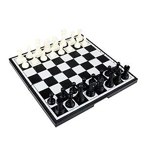 YBWEN-Chess Internationales Schachspiel Magnetisches Reiseschachspiel mit klappbarem Schachbrett Lernspielzeug for…