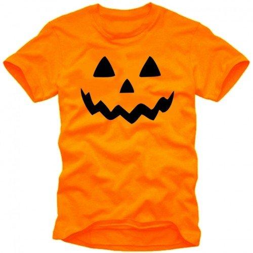 HALLOWEEN T-SHIRT Herren orange Gr.M
