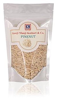 KANJI MANJI KOTHARI& CO Unshelled Afghanistan Produce Pinenuts, 200 g