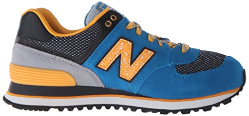 New Balance Womens 574 Outside In Classics Traditionnels Suede Trainers Multicolore