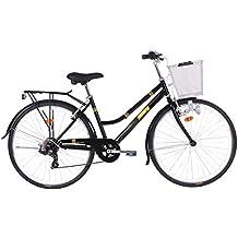 Monty Vintage Bicicleta de Ciudad, Unisex Adulto, Negro, Talla Única