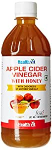 Healthvit Apple Cider With Honey With Goodness Of Mother Vinegar 500ml