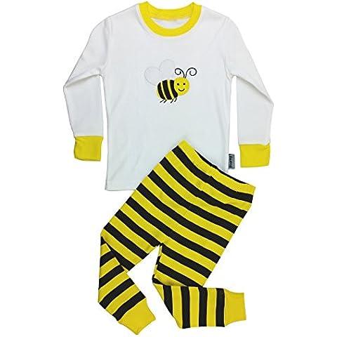 Floorey Pijamas Abeja Set de 2 Piezas 100% algodón
