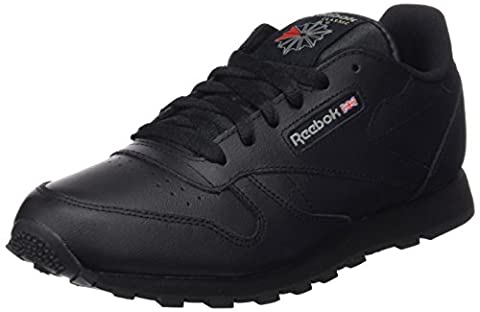 Reebok Classic Leather, Unisex-Kinder Sneaker, Schwarz (Black), 38