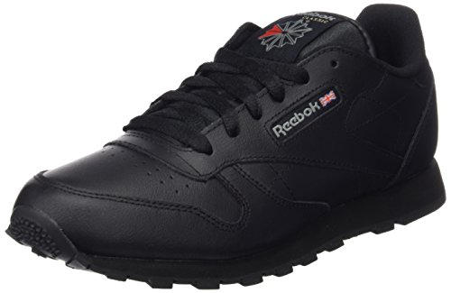 Reebok Classic Leather, Unisex-Kinder Sneaker, Schwarz (Black), 37 EU