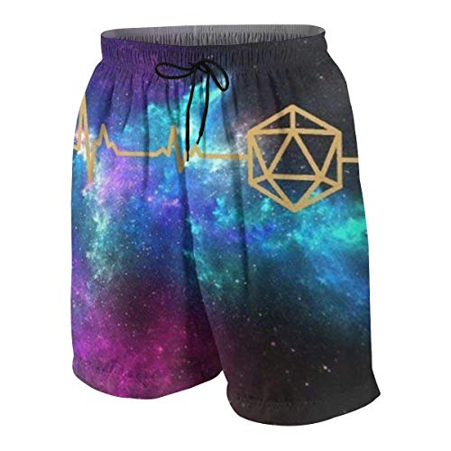 D20 Dice DND Heartbeat - Slaying Dragons in Dungeons Boys Beach Shorts Quick Dry Beach Swim Trunks Kids Swimsuit Beach Shorts,Balakie Classic Beach Shorts M Glory Boys Jeans