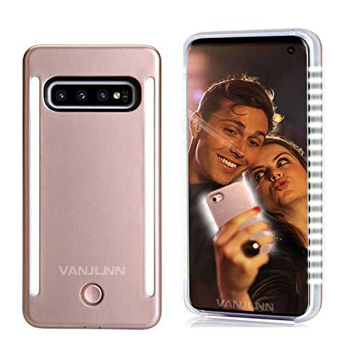 Up Case für S10 S10+ LED Light Up Case mit 2 Seiten wiederaufladbar Rückseite und Front beleuchtete Licht für Samsung S10 S10 Plus, S10 6.0inch, Rose Gold ()