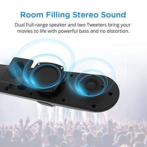 41gotKkcZxL. SS500  - Soundbar, MEGACRA 80 Watts TV Sound Bar Home Theater Speaker with Dual Connection Way, Bluetooth 5.0, Movie/Music…