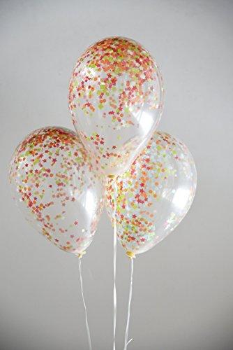 Luftballonset gefüllt mit Seidenpapierkonfetti bunt
