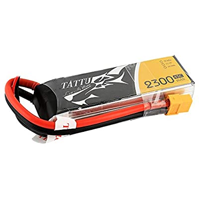 Tattu LiPo Battery Pack 2300mAh 11.1V 45C 3S1P for FPV Racing Quadcopters
