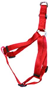 BBD Nylon Dog Harness, 3/4-inch, Medium, Red