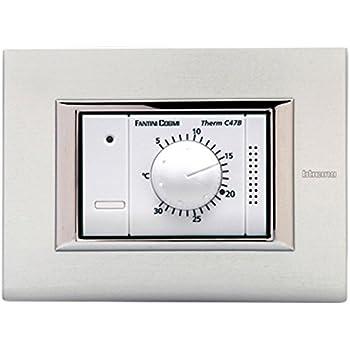 Fantini cosmi c48 termostato ambiente da incasso con for Fantini cosmi c48