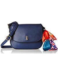 global desi Women's Sling Bag (Navy)