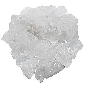 Bergkristall Rohsteine Brunnen Deko Chips Rohstücke klein 1 kg Nr. U2082