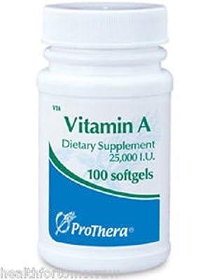 Vitamin A 25000IU 100 Gels - ProThera by ProThera