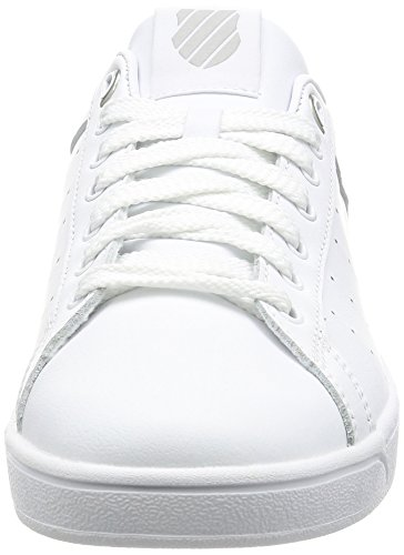 K-Swiss Herren Clean Court CMF Sneakers Weiß(WHITE/GULL GRAY 131)