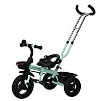 BABYGAMK Children Toddler Tricycle Children Trike Tricycle Bicycle Baby Trolley Child Car Bike 3 Wheels 1-3 Years Old Kids (Color : Blue , Size : Onesize )