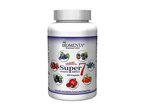 Biomenta® SUPER7 – ANTIOXIDANTIEN KOMPLEX | mit OPC, Cranberry, Goji, Aronia, Granatapfel, Acai, Heidelbeere | 120 Kapseln | 2 Monatskur