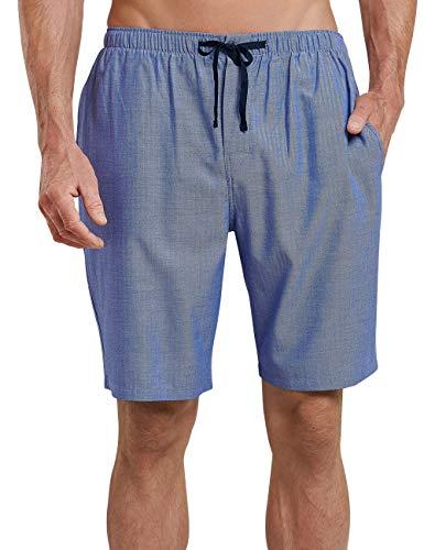 Schiesser Herren Mix & Relax Hose kurz' Schlafanzughose, Blau (Royal 819), Medium (Herstellergröße: 050) -