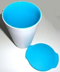 Tupperware Allegra Cup Gobelet/pot à yaourt Blanc/turquoise 450ml