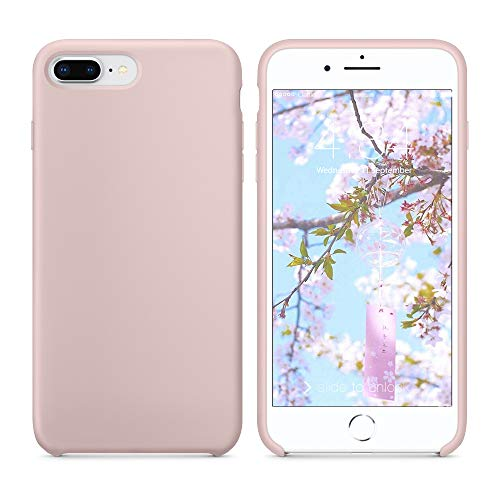 Funda iPhone 7 Plus Funda iPhone 8 Plus, SURPHY Carcasa Ultra Slim Fina Silicona Suave Case Bumper Full Protección Flexible Cover para iPhone 7 Plus iPhone 8 Plus 5.5', Rosa