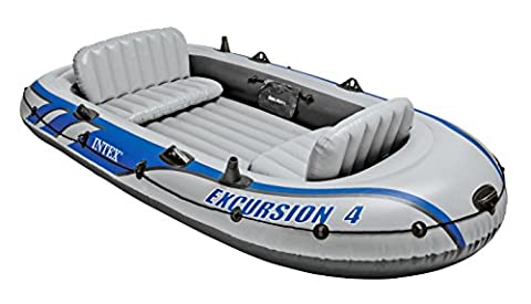 "EXCURSION 4 BOAT SET WITH ALUMINIUM OARS 124"" X65"" X17"" & PUMP #68324"