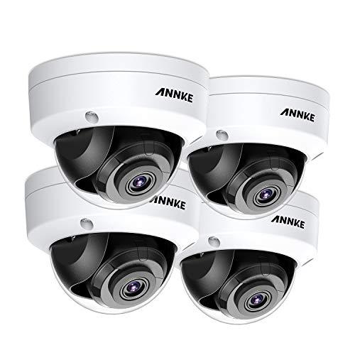 ANNKE 4X POE 8MP IP Kameras für 4K HD Überwachungskamera Set,Sicherheit für Außen Innen,30M IR Nachtsicht mit Bewegungserkennung,Support Onvif NVR Überwachungssystem -