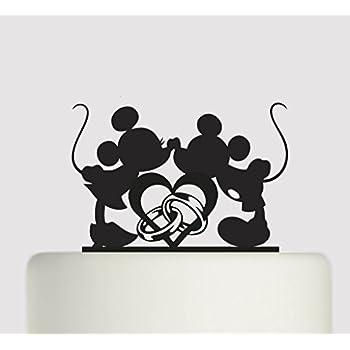 Disney Mickey & Minnie Wedding Figurine/Cake Topper: Amazon.co.uk ...