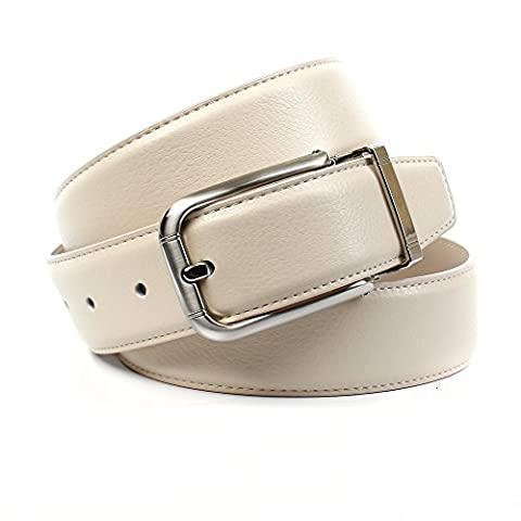 Anthoni Crown Men's A1PT30 Belt, Beige (Beige 033), L