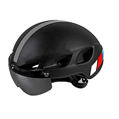 QUILT FAFY Fahrradhelme Fahrradhelm 6 Air Vents Ultralight EPS + PC Integral Geformter MTB Rennradhelm Unisex M L,Black-M