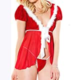 Dessous Sexy SHINEHUA,Sexy Spitze Reizwäsche Lingerie Bodysuit Negligee Dessous Set Body Wäsche Mode Frauen Sexy Unterwäsche Gewürz Anzug Versuchung Unterwäsche(rot,XL)