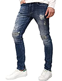 bb6184747e Redbridge Herren Jeans Hose Slim Fit Destroyed Style Inside Out Denim  Jeanshose
