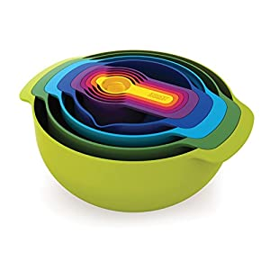 Joseph Joseph Nest 9 Plus 9 Piece Compact Food Preparation Set, Multi-Colour