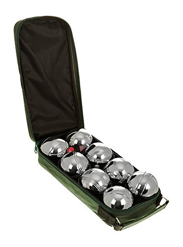 Hillington � Chrome Plated Steel French Boules Garden Game Set in Nylon Zip Carry Case