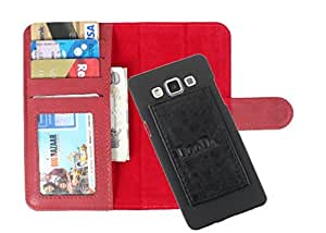 DooDa PU Leather Wallet Flip Case Cover With Card & ID Slots For Lenovo S860 - Back Cover Not Included Peel And Paste