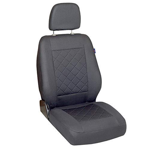Zakschneider Coprisedile per Opel Movano - Coprisedile Anteriore Sedile del Conducente - Colore Premium Grigio a Scacchi