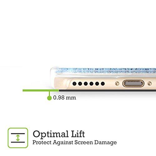 Head Case Designs Licorne Pop Trends Étui Coque Liquide Scintillez Bleu Ciel pour Apple iPhone 5c Licorne