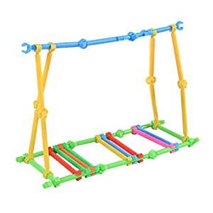 See Saw Playset For Baby Monkey Playset,Y56 40PCS Create Playground Assorted Climbing Jungle Gym Monkey Climbing Entertaint Platform For Baby Monkey, Baby Monkey Climbing Stand/Baby Monkey Playset