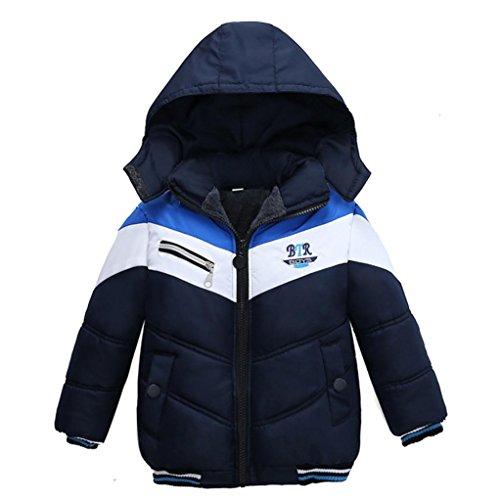Sannysis Babykleidung Kinder Mantel Jungen Mädchen dicken Mantel Gepolsterte Winterjacke Kleidung 2-5Jahre (90, Marine)