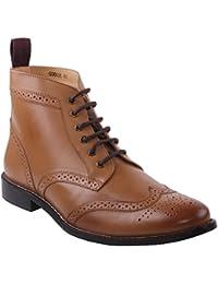 Unze Hombres Taylor ' Botas de cuero elegante formal de combate Brogue encaje tobillo botas Shoes