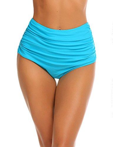Damen UV Schutz Badeshorts Schwimmen Bikinihose Wassersport Schwimmshorts Boardshorts, Eisblau_6440, Medium