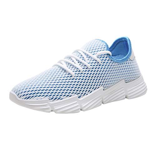 ❤Loveso❤ Herren Sportschuhe Laufschuhe Atmungsaktiv Sneaker Mesh Leichte Straßenlaufschuhe Turnschuhe Gym Fitness Schuhe für Student