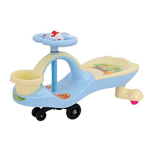 JZM Kids Ride On Toys, Plasma Car Wiggle Car Per Bambini Ragazzi Ragazze Swing Twist Car Riding Steer Race Fun,Blue