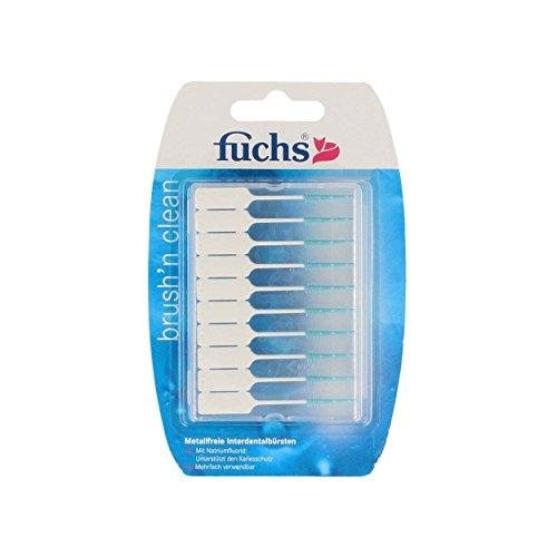 Fuchs Brush n Clean Interdentalbürsten 20 Stück, 10er Pack (10 x 20 Stück)   metallfrei   mit Fluorid