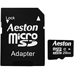 Aeston Micro SDHC 256 GB UHS-1 Class 10 Memory Card with SD Adapter