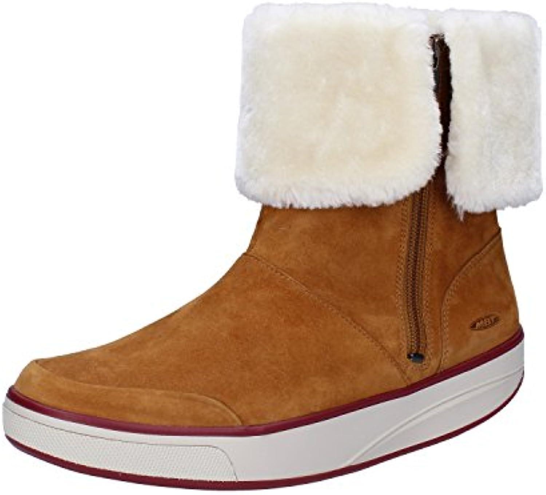 d2d3dc25a21d MBT Ankle Boots Womens 4 UK (EU 37) Brown White White White Suede Fur  B0748GMJC8 Parent ce18ac