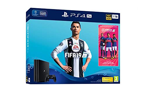 FIFA 19 PS4 Pro 1TB Bundle with FIFA 19 Ultimate Team Icons and Rare Player Pack [Importación inglesa]