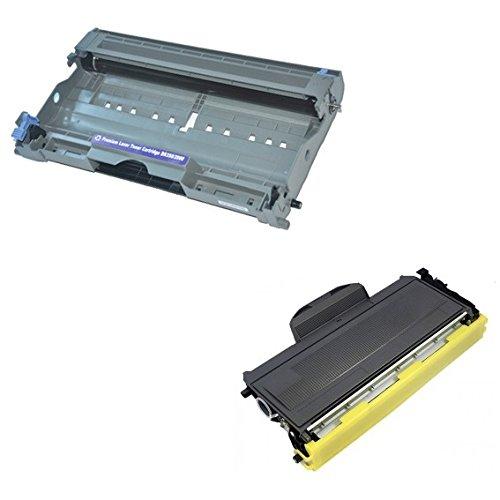Cartridges Kingdom DR2000 Trommeleinheit & TN2000 Toner kompatibel mit Brother DCP-7010 DCP-7020 DCP-7025 HL-2030 HL-2032 HL-2040 HL-2050 HL-2070 2070N MFC-7220 MFC-7420 MFC-7820 7820N FAX-2820 2920 - Brother Tn-350 Toner