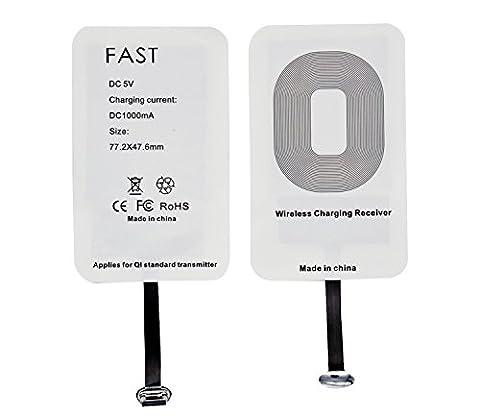 Type C Wireless Ladegerät, WOODHEART Universal Super Speed Ultra Slim High Efficiency Wireless Ladegerät für LG G5, Huawei P9, Ehre 8, Nexus 6P, HTC 10, OnePlus 3 und andere USB-C Geräte