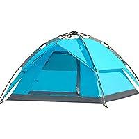 AiNaMei Carpa impermeable para acampar al aire libre, azul, 3-4 personas